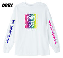 OBEY(オベイ) Tシャツ・カットソー ★国内発送*OBEY*新作*MINDFULアートワーク長袖Tシャツ/WHITE★