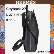 HERMES エルメス 2018男性用バックバッグ CITYBACK27 black