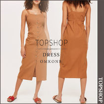 【国内発送・関税込】TOPSHOP★Button Through Midi Slip Dress