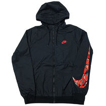 NIKE AS M NSW AIRMAX JKT BLACK/BRIGHT CRIMSON M エアマックス