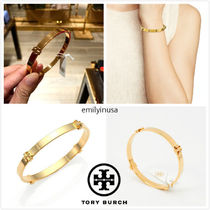 即発 TORY BURCH★Logo Bangle Bracelet バングル*Tory Gold