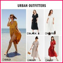 日本未入荷☆新作18SS☆UO☆UO Gabrielle Linen Midi Wrap Dress