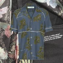 **OFFWHITE**2018AW Exclusive floral cotton shirt with piping