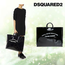 D SQUARED2 プリントショッパーバッグ 黒 送料込