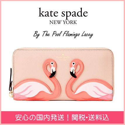 kate spade new york 長財布 【国内発送】BY THE POOL FLAMINGO LACEY セール