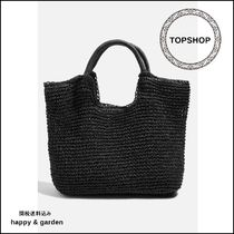 TOPSHOP★関送込ストロートートバッグ(黒)