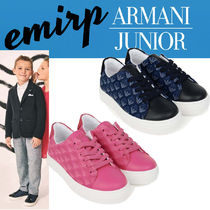 18SS☆ARMANI JUNIOR★KIDS★ロゴスニーカー(17cm〜20.5cm)