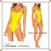 Lovers&Friends(ラヴァーズフレンズ) ワンピース水着 【国内発送】Lovers + Friends☆ TIED UPラップワンピース水着