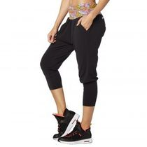 追跡可☆ブラック☆Zumba Dream Capri Harem Pants