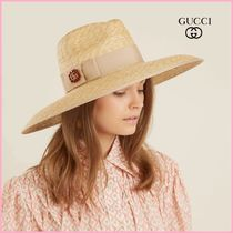 ★SALE★国内発送☆GUCCI☆WIDE-BRIMMED HAT【関税送料込み】