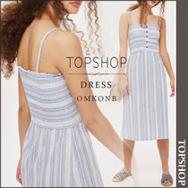 【国内発送・関税込】TOPSHOP★Striped Shirred Midi Dress