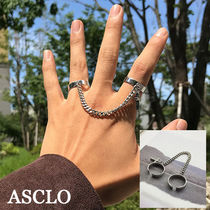 ASCLO★韓国の人気★CROSS DOUBLE CHAIN RING
