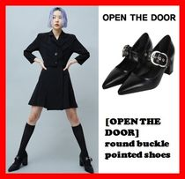 2018ss☆人気【OPEN THE DOOR】☆Round Buckle Pointed Shoes☆
