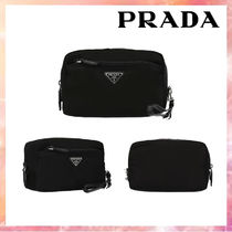 ★関税送料込★PRADA nylon beauty case with Saffiano details