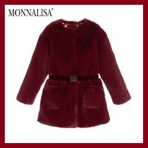 MONNALISA CHIC★Ruby Red ファーコート★4-11Y 関税込