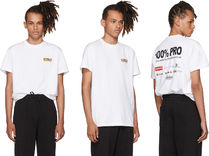 送料無料!Vetements / White '100% Pro' Standard T-Shirt