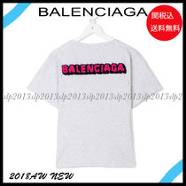 18New■BALENCIAGA■Kids ロゴTシャツ  Light Grey☆関税込
