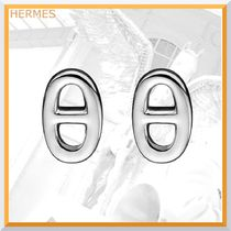 HERMES【すぐ届く】シルバーピアス Chaine d'Ancre【国内発送】
