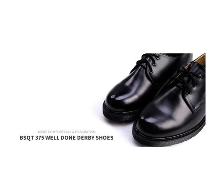 BSQT ドレスシューズ・革靴・ビジネスシューズ BSQT 375 WELL DONE DERBY CLASSIC SHOES ★シークレット 厚底★(4)