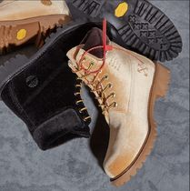☆☆MUST HAVE ☆☆off white ×Timberland  Velvet Boots☆