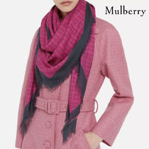 Mulberry グラフィティスクエア ディープピンク シルク 送料込