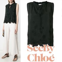 SEE BY CHLOE Embroidered Scalloped Shell Top 関税送料込