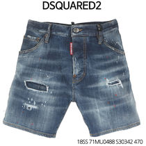 D SQUARED 2★Flower Leather Patch Denim  71MU0488 S30342 470