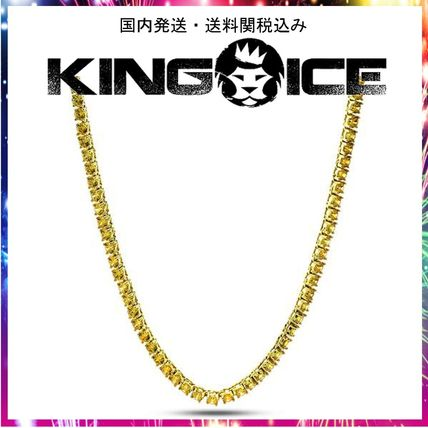 King Ice ネックレス・チョーカー ☆KING ICE☆5mm, Canary Yellow Single Row Tennis Chain, 24in