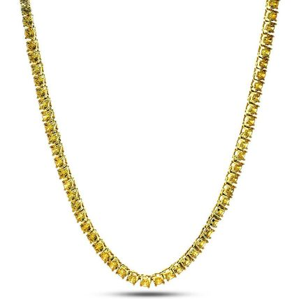 King Ice ネックレス・チョーカー ☆KING ICE☆5mm, Canary Yellow Single Row Tennis Chain, 24in(2)