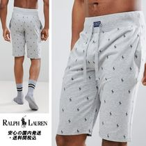 Ralph Lauren☆All Over Player Print Lounge Shorts in Grey ♪