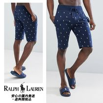 Ralph Lauren☆All Over Player Print  Lounge Shorts in Navy♪
