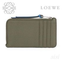 LOEWE★ロエベ Coin/Card Holder Large Khaki Green/Pecan Color