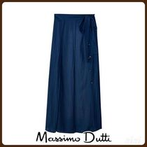 MassimoDutti♪FLOWING SKIRT WITH BUTTONS