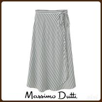 MassimoDutti♪STRIPED WRAP-STYLE SKIRT