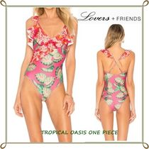 Lovers&Friends(ラヴァーズフレンズ) ワンピース水着 【国内発送】Lovers + Friends☆OASIS ラッフルワンピース水着