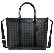 ☆COACH☆PERRY BUSINESS TOTE WITH HERRINGBONE PRINT