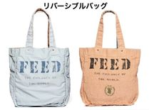 FEED(フィード) トートバッグ 国内発送 フィード*FEED リバーシブル トートバッグ DUSTY BLUE