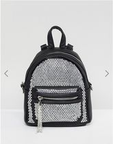 ALDO(アルド) マザーズバッグ ALDO Backpack with Crystal Studding Detail and Tassels