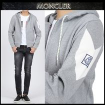 【MONCLER GAMME BLEU】17AW 袖ロゴ ジップアップフードGRY/EMS