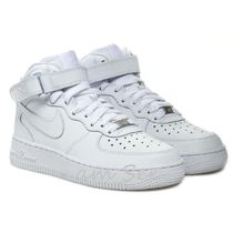 【大人もOK♪】Nike AIR FORCE1 MID GS kids スニーカー 白
