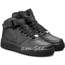 【大人もOK♪】Nike AIR FORCE1 MID GS kids スニーカー 黒