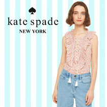 kate spade new york ケイトスペード Arrow Stripe Lace-Up Top