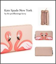 【Kate Spade】大人気フラミンゴ柄◆by the poolflamingo lacey