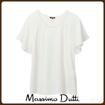 MassimoDutti♪T-SHIRT WITH METAL APPLIQUES