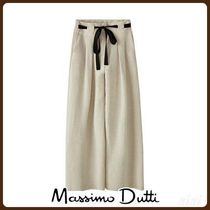 MassimoDutti♪WIDE-LEG TROUSERS WITH CONTRASTING BELT