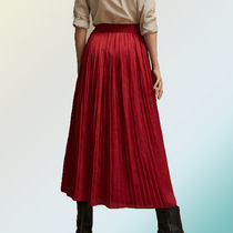 【イチオシ◎】PLEATED SKIRT WITH SLIT DETAIL【18'SS新作♪】