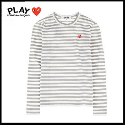 COMME des GARCONS Tシャツ・カットソー (コムデギャルソン) redハート T gray AZ-T217-051-3