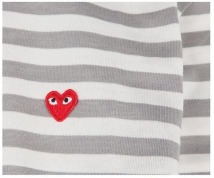 COMME des GARCONS Tシャツ・カットソー (コムデギャルソン) redハート T gray AZ-T217-051-3(4)