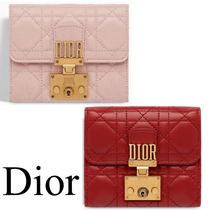 Dior French DIORADDICT Flap Wallet in Cannage Lambskin