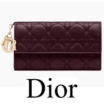 Dior LADY DIOR Continental Wallet in Cannage Lambskin